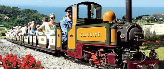 Beer, UK : Claudine showing off the wonderful views of Lyme Bay
