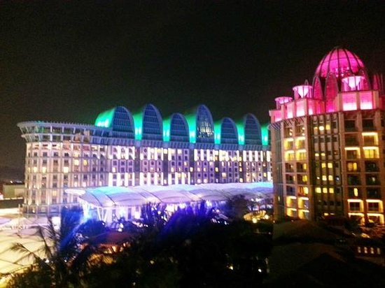 Resorts World Sentosa - Festive Hotel: View from Deluxe family room (pool view room)