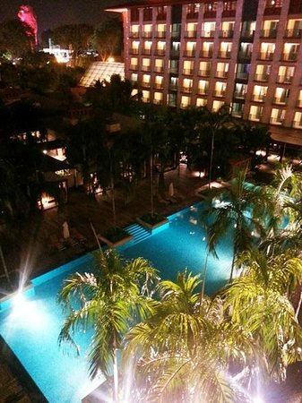 Resorts World Sentosa - Festive Hotel: View from Deluxe family room (pool view)