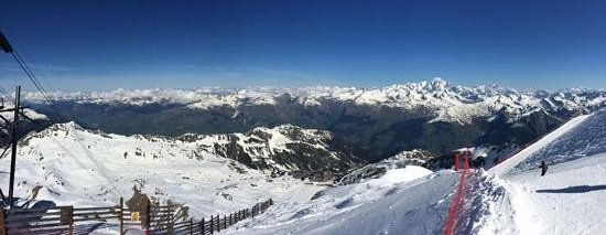 Chalet Koala : view from tne Aguille Rouge looking to La Rosiere and beyond