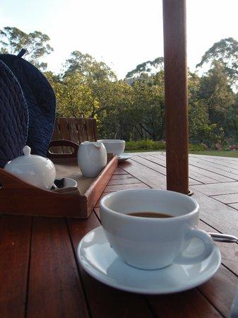 Jetwing Warwick Gardens: Morning tea in the gardens
