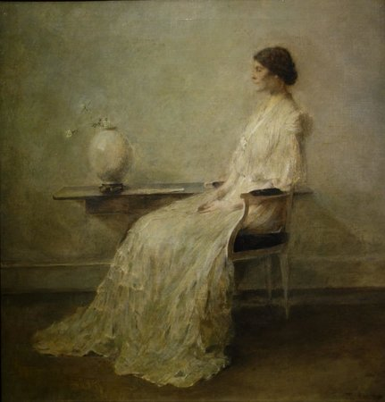 Smithsonian American Art Museum: T. W. Dewing: Lady in White