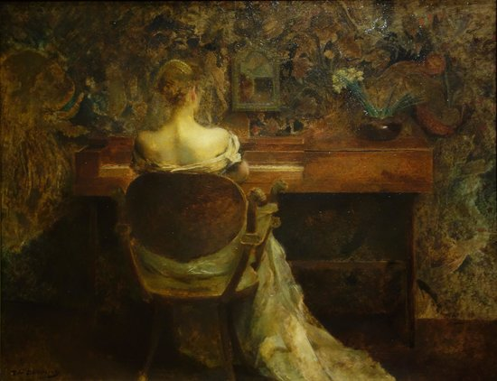 Smithsonian American Art Museum: T. W. Dewing: The Spinet