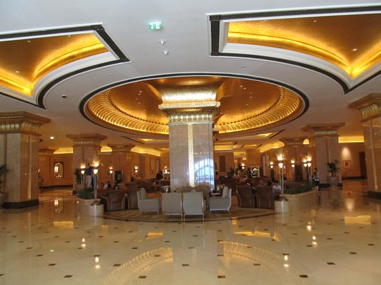 Emirates Palace Hotel: Seating area with large space surrounding it.