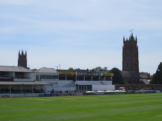 The Cooper Associates County Ground: The two nearby churches