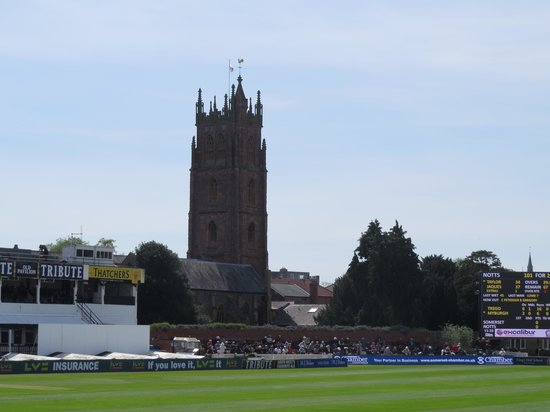The Cooper Associates County Ground: View of St James Church from ground