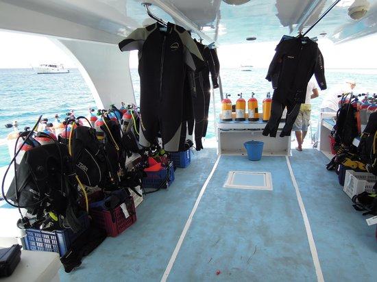 Oonas Dive Club Hotel: en el barco