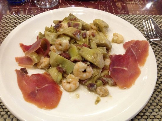 Taberna Salinas : Shrimp and jamon salad