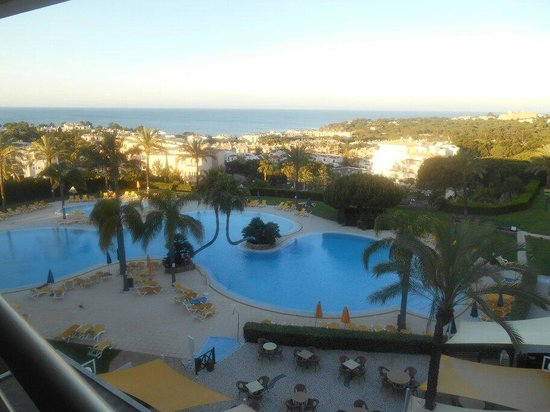 Holiday Village Algarve Balaia: Main pool view from balcolny just before sun rises on it
