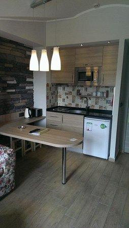 Club Exelsior: kitchen area