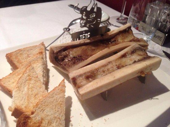 La tete de Boeuf : Os moelle (pas terrible)