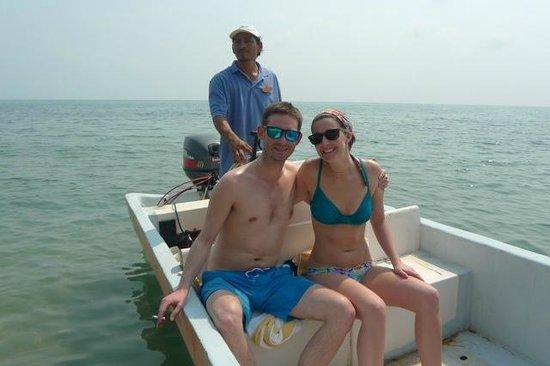 Villa Verano: Maddie and Dan off with Gerardo for a boat ride