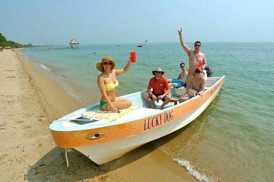 Villa Verano: Off on the boat