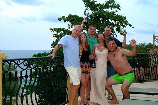 Villa Verano: Group from penthouse balcony