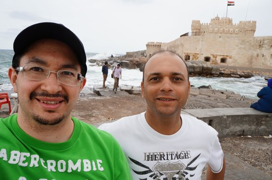Cairo-Overnight Tours - Day Tours: Mohsen my guide and myself at the Citadel.