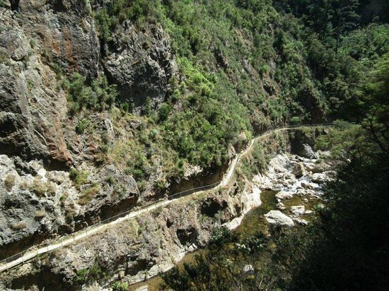Karangahake Gorge Historic Walkway: The walking track is safe