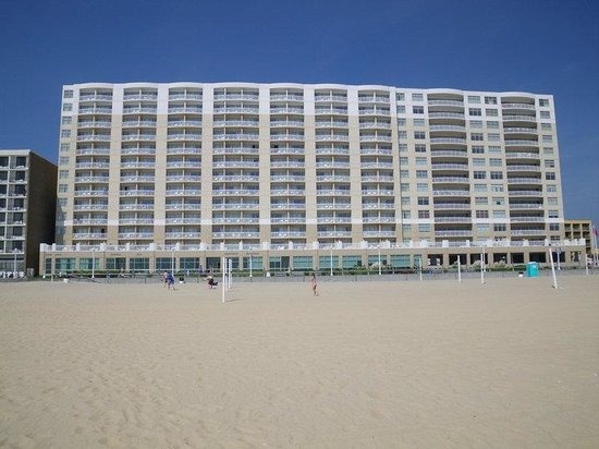 SpringHill Suites Virginia Beach Oceanfront : our hotel from the beach
