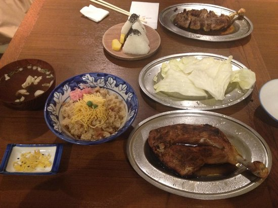 Ikkaku Takamatsu: 雛鳥、とりめし、オニギリ、親鶏