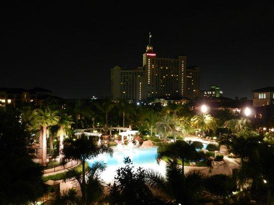 Marriott's Lakeshore Reserve : Night View of Resort From Room