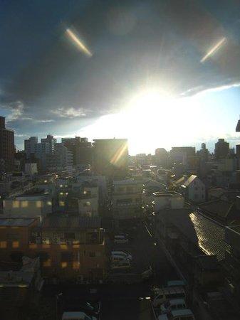 Shin-Osaka Sun Plaza Hotel: 窓からの風景