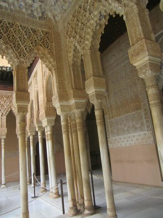 The Alhambra: note the carvings