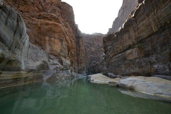Wadi al-Mujib: Start of the Siq river