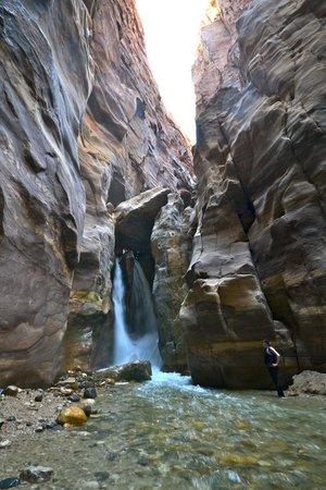 Wadi al-Mujib: The end of your tour, the waterfall
