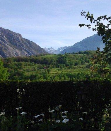 Hotel Torrecerredo: uitzicht vanuit de tuin