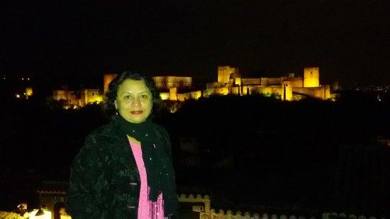 Mirador de San Nicolas: Alhambra from mirador San Nicholas