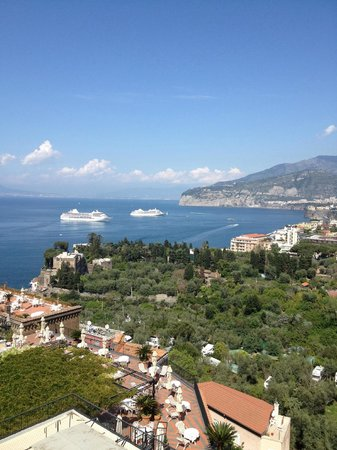 Grand Hotel Capodimonte: view from 7th fl room 702