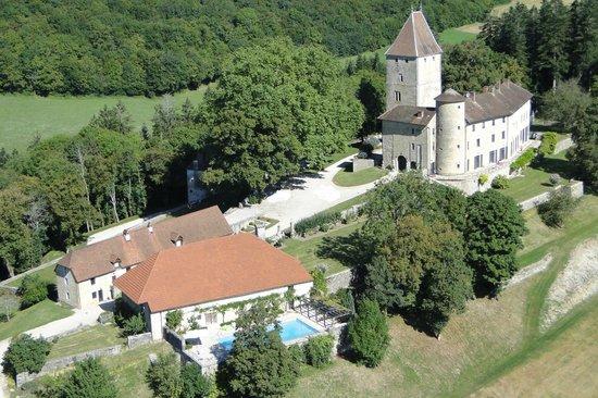 Chateau De Marigna: Vue aérienne