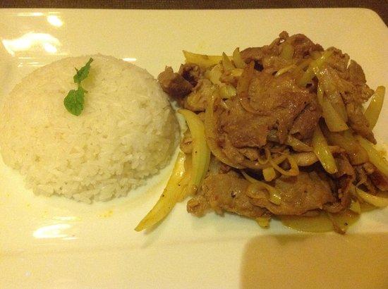 The Little Menu Restaurant: Pork & Veg