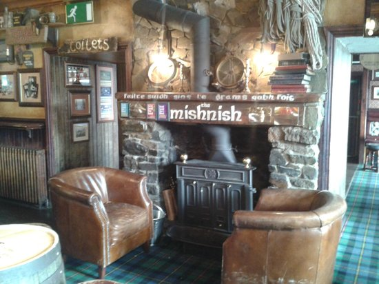 The Mishnish Bar: welcoming fireside
