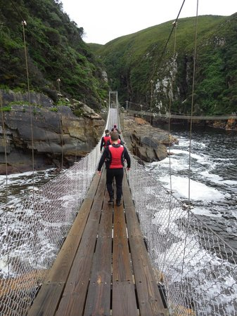 Untouched Adventures: Suspension bridge is part of the short hike to the launching platform
