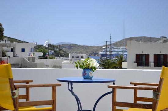 Avra Pension: Balcony