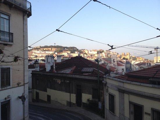 Tagide : Vista exterior del restaurante (edificio en la izquierda de la foto)