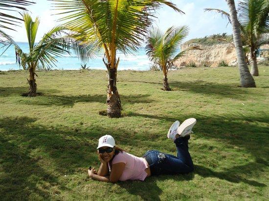 Hotel Playazul : Solaz en la hierba!.