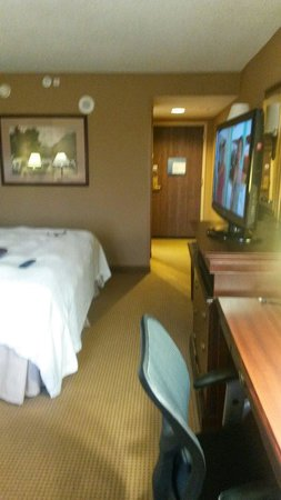 Hampton Inn and Suites Dallas - DFW Airport North / Grapevine: View of interior of king room.