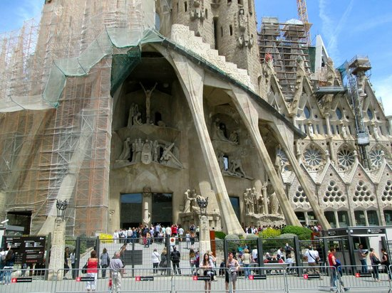 Sagrada Família : One view of Sagrada Familia but not the original part by Gaudi.