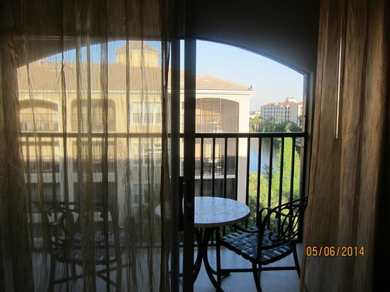 Hilton Grand Vacations at Tuscany Village: view straight out the balcony