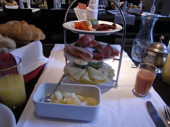 Hollmann Beletage: 朝食の一部