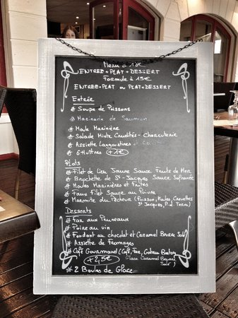 La Trinquette: Daily menu brought to your table