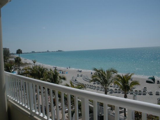 Lido Beach Resort: View from the balcony of top floor shorter building