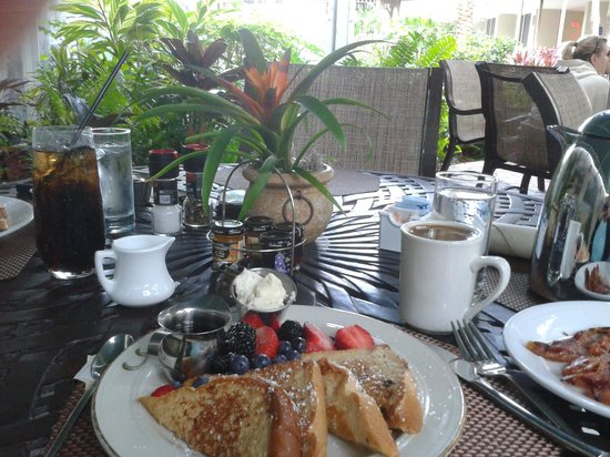 Best breakfast on the beach/Lido Beach Resort.