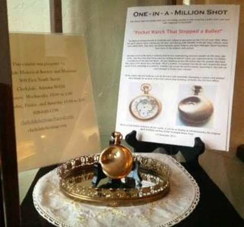Clarkdale Historical Society and Museum: The pocket watch that caught the bullet