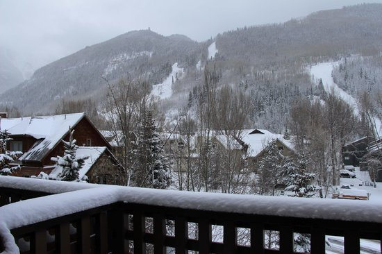 The Hotel Telluride: Looking out our window
