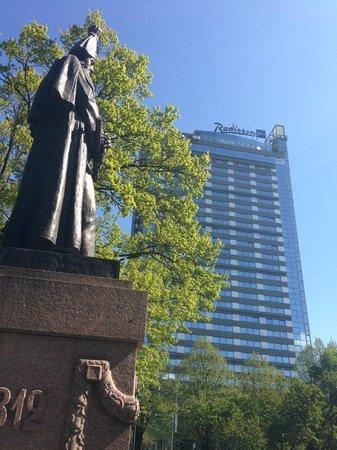 Radisson Blu Latvija Conference & Spa Hotel: Sentralt hotel