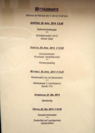 Haxnbauer : menu