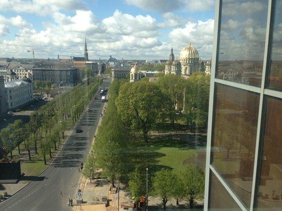 Radisson Blu Latvija Conference & Spa Hotel: flott utstikt fra heisen