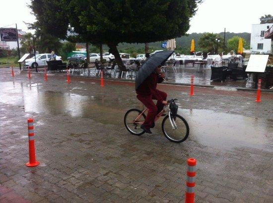"""Alinn Sarigerme Boutique Hotel: """"Crazy Man"""" on bike in Sarigerme"""